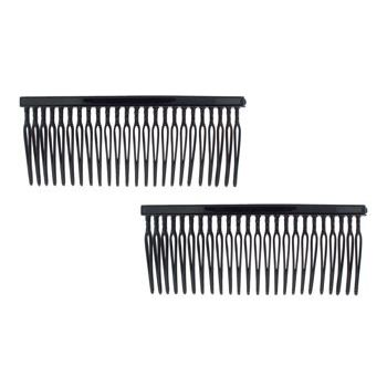 Camila - Thin Side Combs - Black