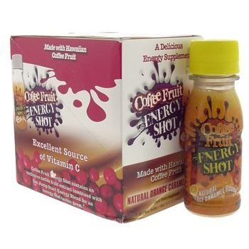 Fruitology - Coffee Fruit - Energy Shot - Orange Carmel - 6 pack