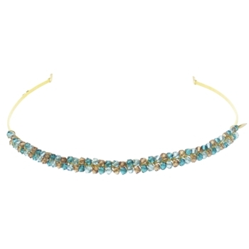 Colette Malouf - Crystal Pomegranite Headband - Turquoise & Golden Amber (1)