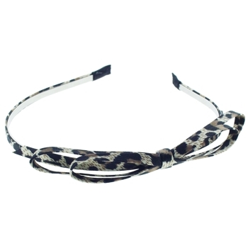 Medusa's Heirlooms - Leopard Bow Headband - Cream (1)