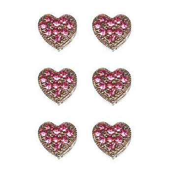 HB HairJewels - Magnetic Austrian Crystal Hearts - Rose (6)