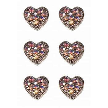 HB HairJewels - Magnetic Austrian Crystal Hearts - White AB (6)