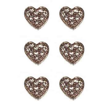 HB HairJewels - Magnetic Austrian Crystal Hearts - White Crystal (6)