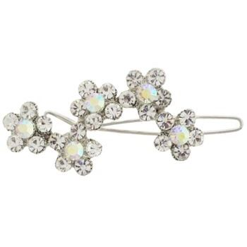 Karen Marie - Bridal Collection - Barrette - Five Crystal Flowers