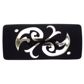 Camila - Cut Out Barrette - Black