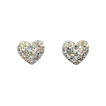 HB HairJewels - Crystal Heart Magnets - White (2)