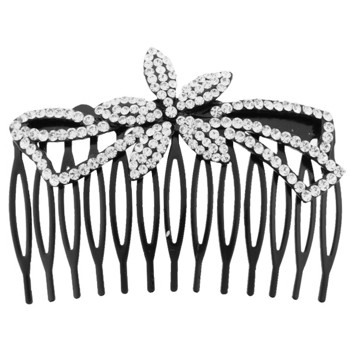 Karen Marie - Tropical Flower Comb - White/Black (1)