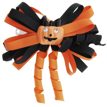 Karen Marie - Halloween Ribbon Barrette - Pumpkin (1)