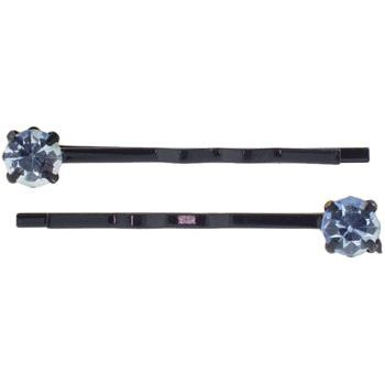 Karen Marie - Diamond Bobby Pins - Blue (Set of 2)