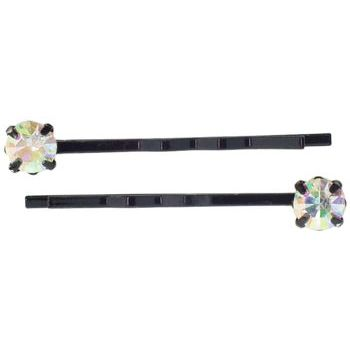 Karen Marie - Diamond Bobby Pins - Opal (Set of 2)