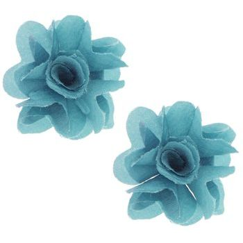 SOHO BEAT - Spanish Soiree - Festive Blossom Earrings - Turquoise