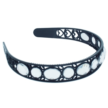 HB HairJewels - Lucy Collection - Crystal Encrusted Headband - Black (1)