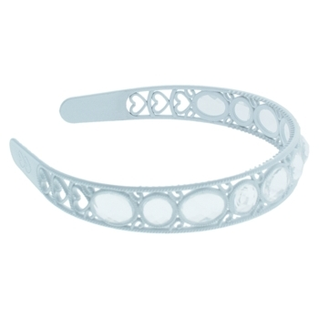 HB HairJewels - Lucy Collection - Crystal Encrusted Headband - White (1)