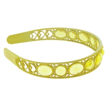 HB HairJewels - Lucy Collection - Crystal Encrusted Headband - Lemon (1)