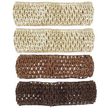 Karen Marie - Stretchy Woven Bandeau - Chocolate, Copper & 2 Beige (4 Pack)