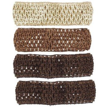 Karen Marie - Stretchy Woven Bandeau - Copper, Beige & 2 Chocolate (4 Pack)