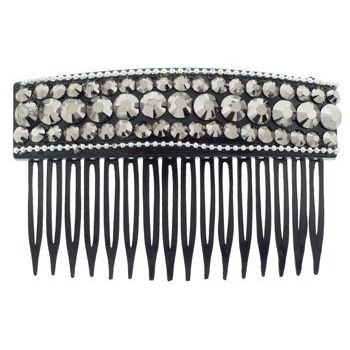 SOHO BEAT - Evening Romance - Crystal Studded Comb - Smoke (1)
