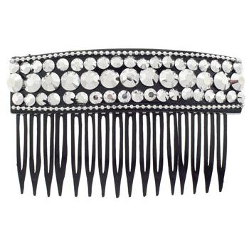 SOHO BEAT - Evening Romance - Crystal Studded Comb - Silver (1)