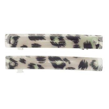 HB HairJewels - Small Leopard Pattern Barrettes - Green (2)
