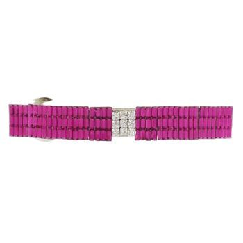 HB HairJewels - Lucy Collection - Rock Crystal Barrette - Magenta (1)