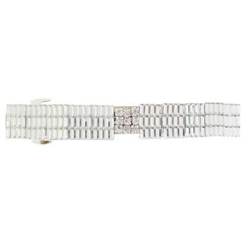 HB HairJewels - Lucy Collection - Rock Crystal Barrette - White (1)
