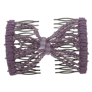 Evita Peroni - Summer Double Comb - Lilac - Connected Beaded Combs (1 Set)