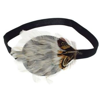 HB HairJewels - Lucy Collection - Exotic Feather Headband - Ivory (1)