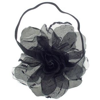 SOHO BEAT - Evening Romance - Sparkling Rose Fascinator Headband - Ink (1)