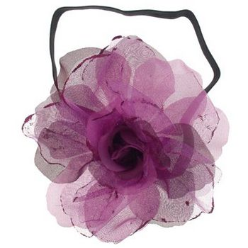 SOHO BEAT - Evening Romance - Sparkling Rose Fascinator Headband - Deep Rose (1)