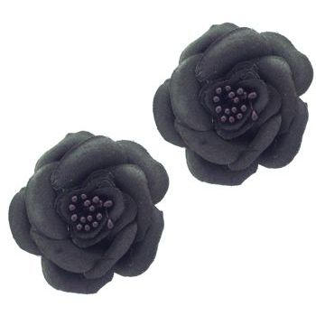SOHO BEAT - Spanish Soiree - Sugar Rose Hair Clip - Jet (Set of 2)