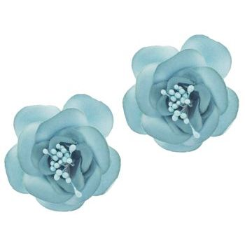 SOHO BEAT - Spanish Soiree - Sugar Rose Hair Clip - Aqua (Set of 2)