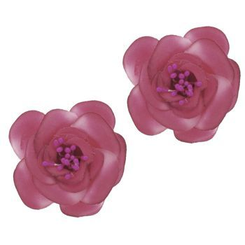 SOHO BEAT - Spanish Soiree - Sugar Rose Hair Clip - Magenta (Set of 2)
