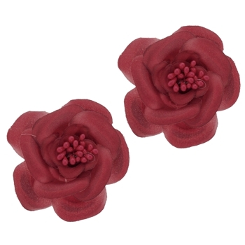 SOHO BEAT - Spanish Soiree - Sugar Rose Hair Clip - Red (Set of 2)