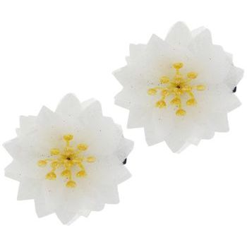 SOHO BEAT - Spanish Soiree - Stellate Flower Clip - White (Set of 2)