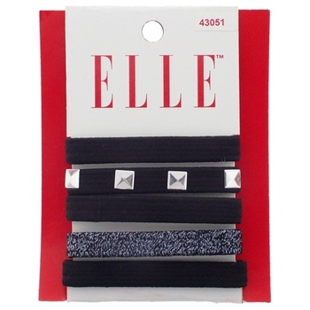 Elle & Elle Girl - Metallic Flat Elastic Bands (Set of 5)