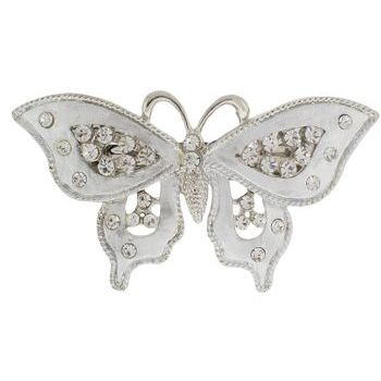 HB HairJewels - Michelle Collection - Butterfly Barrette - Silver