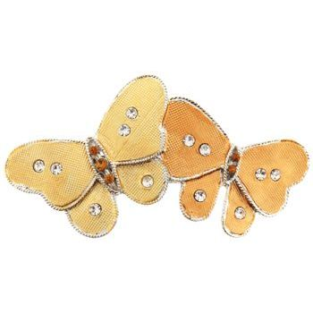 HB HairJewels - Michelle Collection - Double Butterfly Barrette - Gold