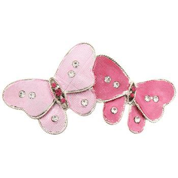 HB HairJewels - Michelle Collection - Double Butterfly Barrette - Rose