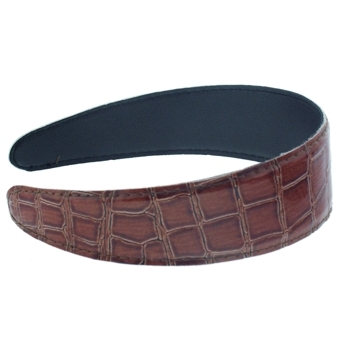 Karen Marie - Faux Croc Headband - Redwood(1)