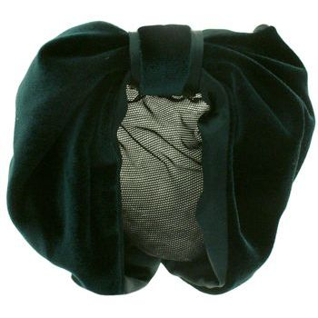 Karen Marie - Snood Collection - Velvet & Satin - Emerald