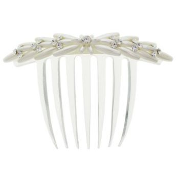 Karen Marie - Bridal Collection - Pearl & Crystal French Twist Comb - 1 Flower