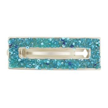Gia Alessandra - Open Rectangle Beaded Barrette - Turquoise (1)