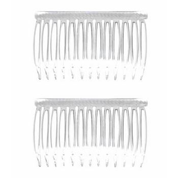 Good Hair Days - Grip-Tuth - 2 3/4inch Crystal Colored Sidecombs