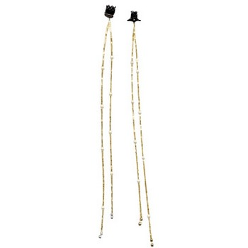 HB HairJewels - Beaded Hair Strings - Gold