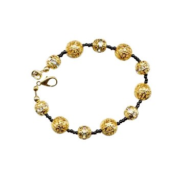 HB HairJewels - Diva Collection - Black & Gold Bracelet