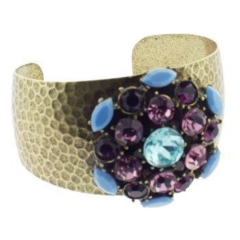 Gerard Yosca - Blue Stone Spark Pin on Cuff (1)