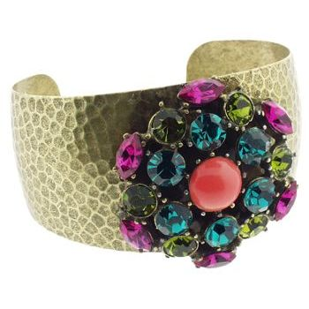 Gerard Yosca - Multi Stone Spark Pin on Cuff (1)