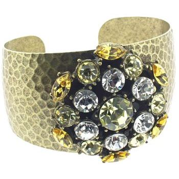Gerard Yosca - Yellow Stone Spark Pin on Cuff (1)