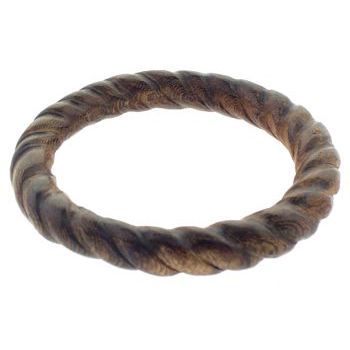 Gerard Yosca - Carved Wood Bangle - Small - Rope (1)
