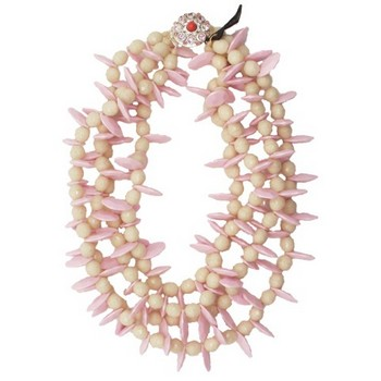 Gerard Yosca - Pink Paddle Bead Necklace w/Clasp (1)